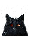 Black Cats Get a Bad Rap - cat art by LindaAppleArt