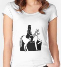 Ned Kelly Riding His Horse Women's Fitted Scoop T-Shirt
