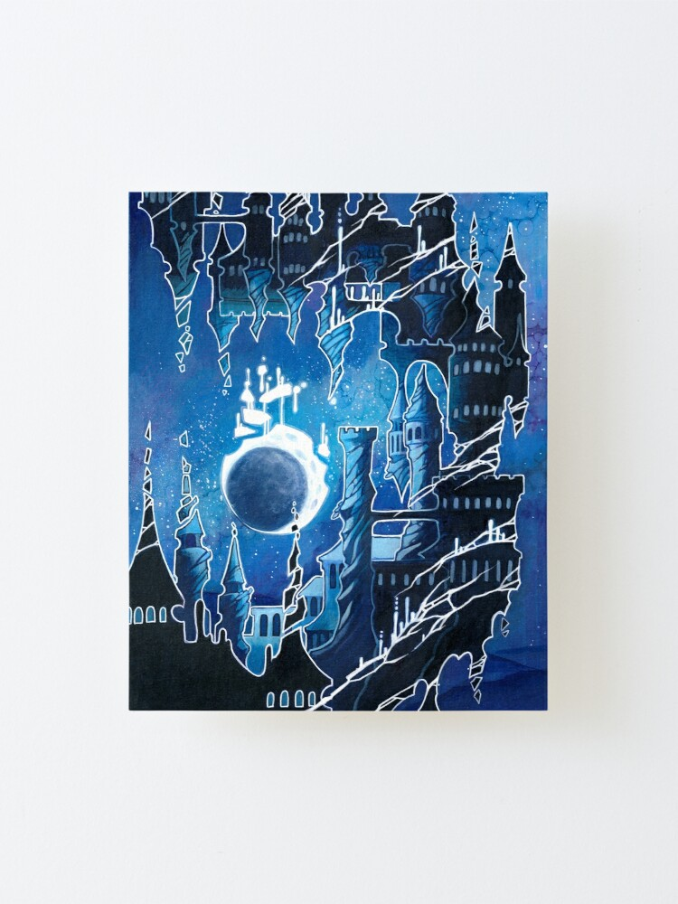 Alternate view of crumbling city Mounted Print