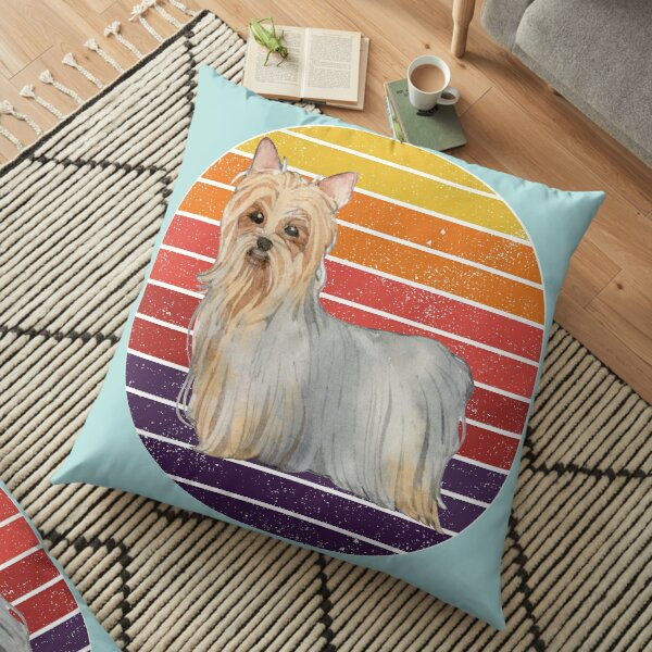 Cute Cartoon Australian Silky Terrier dog. The perfect gift for every Australian Silky Terrier Dog lover Floor Pillow