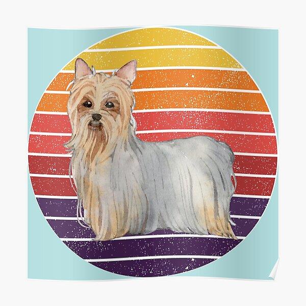 Cute Cartoon Australian Silky Terrier dog. The perfect gift for every Australian Silky Terrier Dog lover Poster