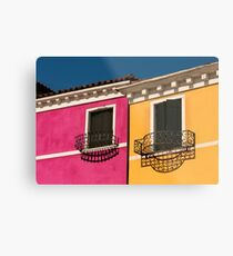 Colours of Burano Italy Metal Print