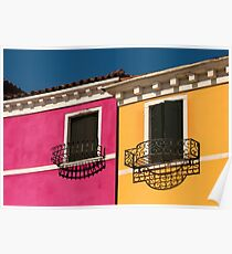 Colours of Burano Italy Poster