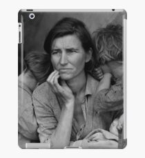 Migrant Mother by Dorothea Lange (1936) iPad Case/Skin