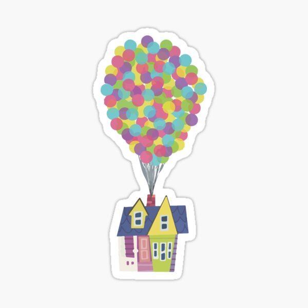 Balloon House Sticker
