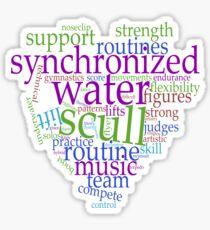 Synchronized Swimming Word Cloud Design Sticker
