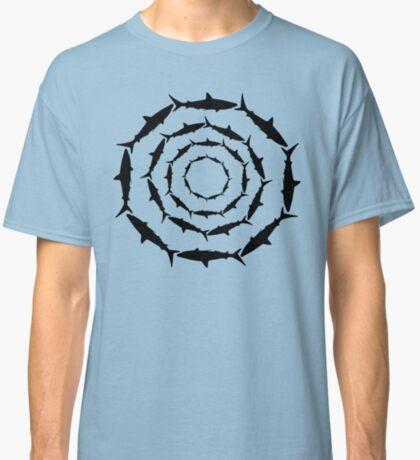 Spiralling Sharks (Black) Classic T-Shirt