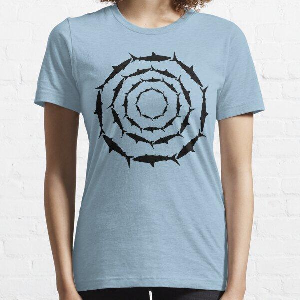 Spiralling Sharks (Black) Essential T-Shirt