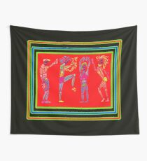 Dance Warriors Earth Dance Tranparent Overlay Wall Tapestry
