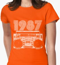 1987 Boombox Women's Fitted T-Shirt
