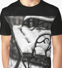 Bench in Snow Graphic T-Shirt