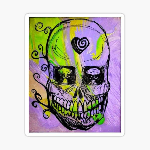 Mushroom Skull Sticker