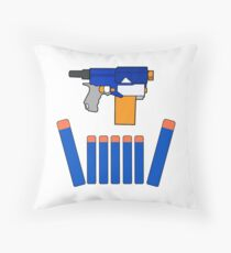 NERF TOY DESIGN- CROWN OF DARTS Throw Pillow