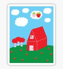 Strawberry Countryside Sticker