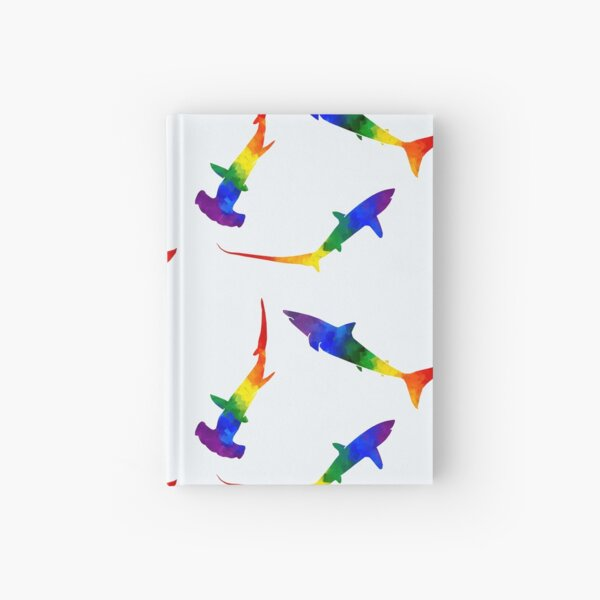 Rainbow Sharks  Hardcover Journal