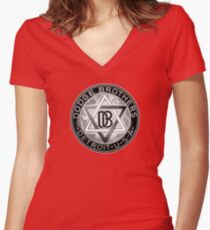 Dodge Brothers Vintage Detroit  USA Women's Fitted V-Neck T-Shirt