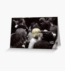 Fashionably Blond Greeting Card