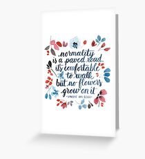 paved road Greeting Card