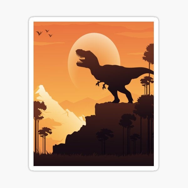 Dinosaur Tiraks, T-SHIRT Sticker