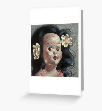 I'm Fine #9, (Hawaiian Doll) Greeting Card