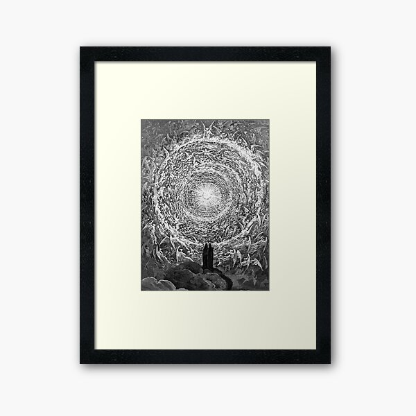 Dante and Beatrice Gaze Upon the Highest Heaven, The Empyrean Gustave Dore Framed Art Print