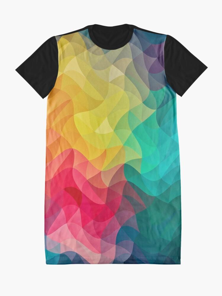 Alternative Ansicht von Abstract Color Wave Flash T-Shirt Kleid