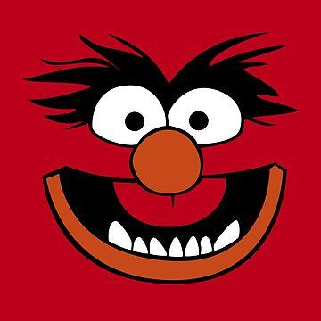 Animal Muppet (Orange Lips&Nose) by Khyrgrim