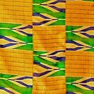Colours of Africa (26) of a series of African Colours, KENTE of the Ashanti and Ewe in Ghana by Remo Kurka