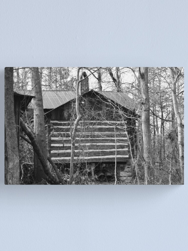 Alternate view of Log Cabin in the Woods Canvas Print