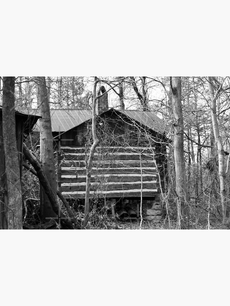 Log Cabin in the Woods by ArtMystSoul