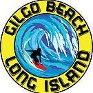 Surfing GILGO BEACH LONG ISLAND NEW YORK Surf Surfboard Waves by MyHandmadeSigns