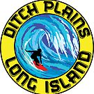 Surfing DITCH PLAINS LONG ISLAND NEW YORK Surf Surfboard Waves by MyHandmadeSigns