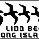 LIDO BEACH LONG ISLAND NEW YORK SEAGULL SEAGULLS DECAL STICKER by MyHandmadeSigns