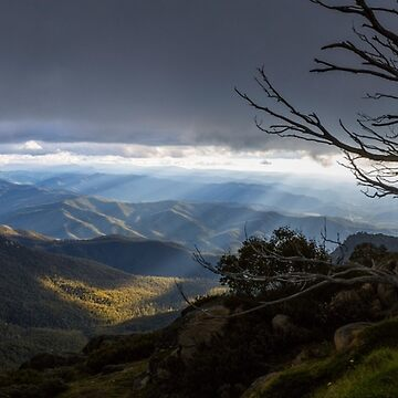 Panoramic view from Mount Buffalo at Sunset by cannboys
