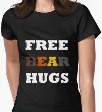 Free Bear Hugs! Womens Fitted T-Shirt