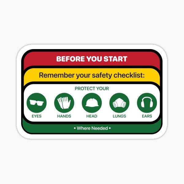 Safety Checklist Sticker