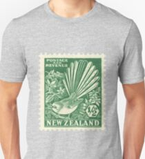Fantail - New Zealand stamp Slim Fit T-Shirt