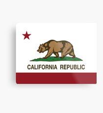 Republik Kalifornien Flagge Metallbild