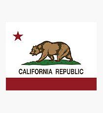 California Republic Flag Photographic Print