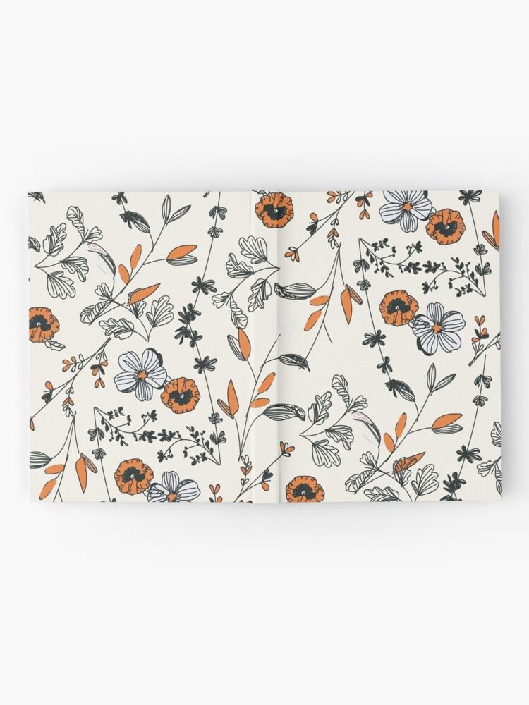 Alternate view of Orange Flower Pattern Hardcover Journal