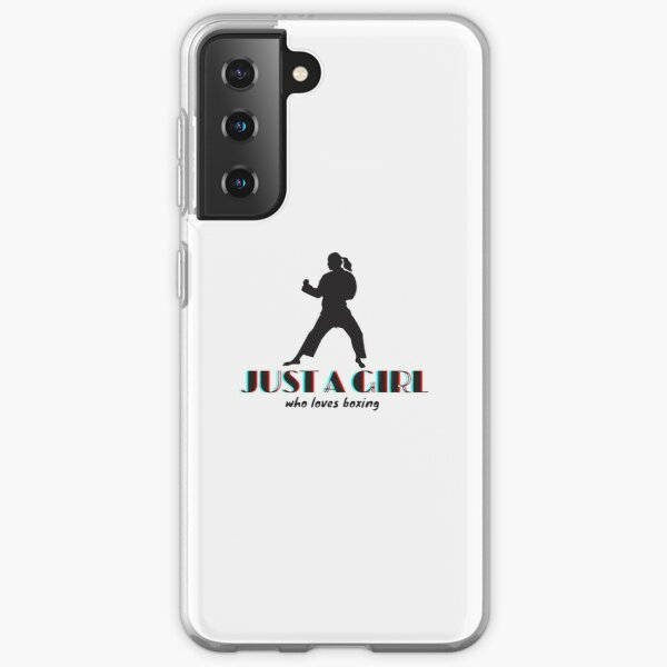 Just a girl who loves Boxing Fitted T-Shirt Samsung Galaxy Soft Case