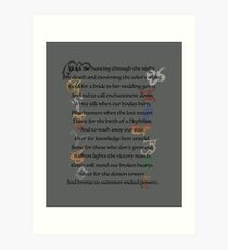 Shadowhunters Nursery Rhyme Art Print