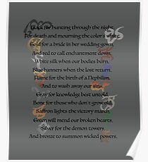 Shadowhunters Nursery Rhyme Poster
