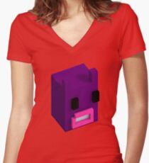 Voxel Bunnylord Women's Fitted V-Neck T-Shirt