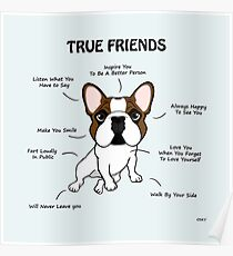 True Friends Frenchie  Poster