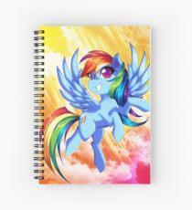 Rainbow Dash Spiral Notebook