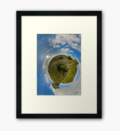 Country Roads - Killea Crossroads, Derry, N. Ireland Framed Print