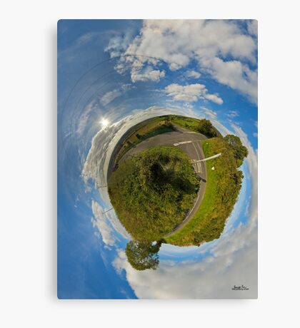 Country Roads - Killea Crossroads, Derry, N. Ireland Canvas Print