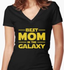 Best Mom in The Galaxy Women's Fitted V-Neck T-Shirt