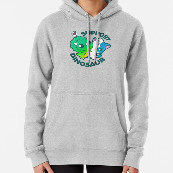 Support Dinosaur Pullover Hoodie